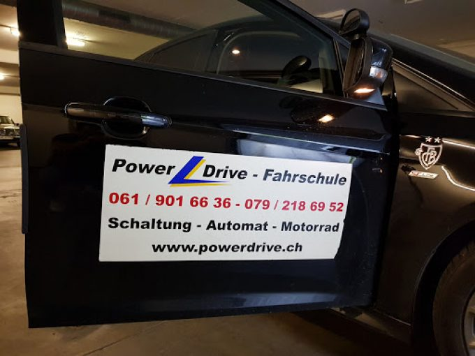 Fahrschule Powerdrive 061/901 66 36- Nothilfe,VKU Kurse. Ausbildung auf Schaltung,Automatik,Motorrad